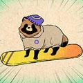 タヌキのスキー.jpg